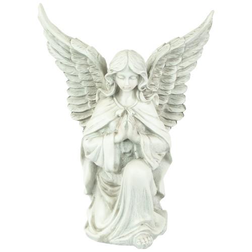 """13"""" Religious Kneeling Praying Angel Outdoor Garden Statue - IMAGE 1"""