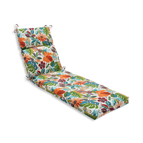 """Set of 2 Gray and Orange Outdoor Bench Cushion 72.5"""" - IMAGE 1"""