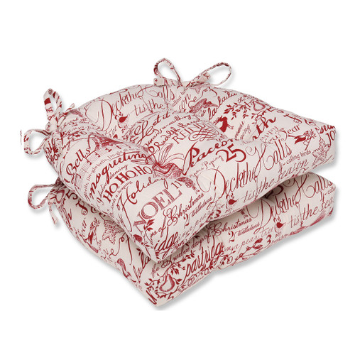 """Set of 2  Holiday Song Reversible Chair Cushions """"16 - IMAGE 1"""