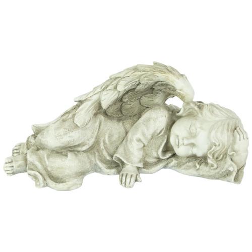 """9.75"""" Heavenly Sleeping Cherub Angel Outdoor Garden Statue - IMAGE 1"""