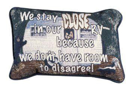"""Set of 2 Close To Our RV Decorative Throw Pillows 9"""" x 12"""" - IMAGE 1"""