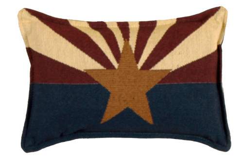 """Set of 4 Blue, Red And Brown Rectangular State Flag Of Arizona Flag Throw Pillow, 12"""" - IMAGE 1"""
