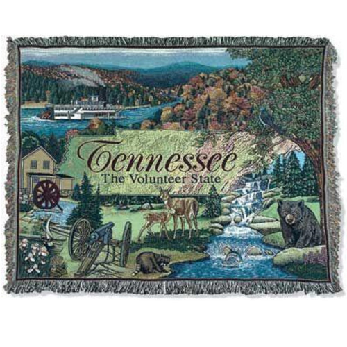 """Tennessee The Volunteer State Rectangular Tapestry Throw Blanket 50"""" x 60"""" - IMAGE 1"""