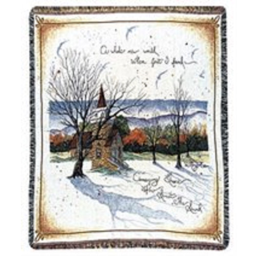 "Amazing Grace Hymn Theme Tapestry Throw 50"" x 60"" - IMAGE 1"