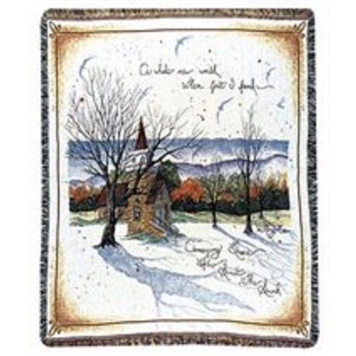 "Amazing Grace Hymn Theme Tapestry Throw 50"" x 60"" - IMAGE 1"