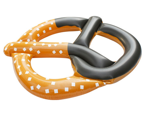 """51"""" Inflatable Brown and Black Pretzel Swimming Pool Novelty Raft Float - IMAGE 1"""
