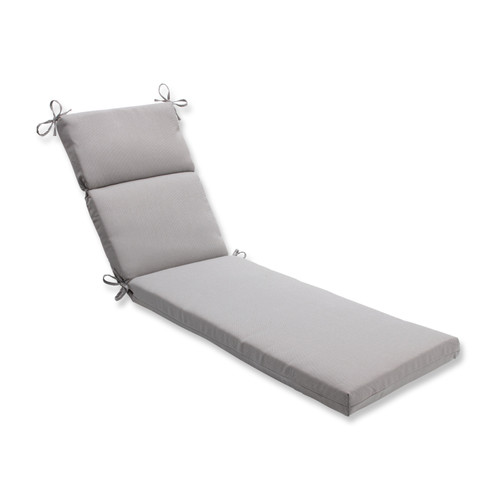 "72.5"" x 21"" Gray Reversible Outdoor Patio Chaise Lounge Cushion - IMAGE 1"
