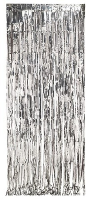 Pack of 6 Silver Colored Christmas Hanging Door Fringe Decorations 8' - IMAGE 1