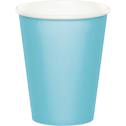 Club Pack of 240 Pastel Blue Disposable Paper Drinking Party Tumbler Cups 9 oz. - IMAGE 1