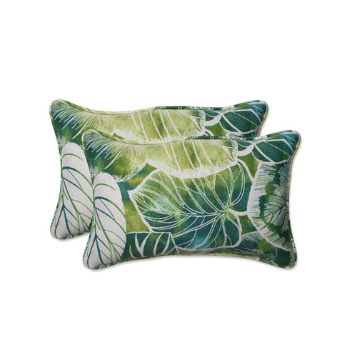 """Set of Two """"Tropical Oasis"""" Iguana and Blue Green Corded Decorative Throw Pillow 25.5"""" - IMAGE 1"""