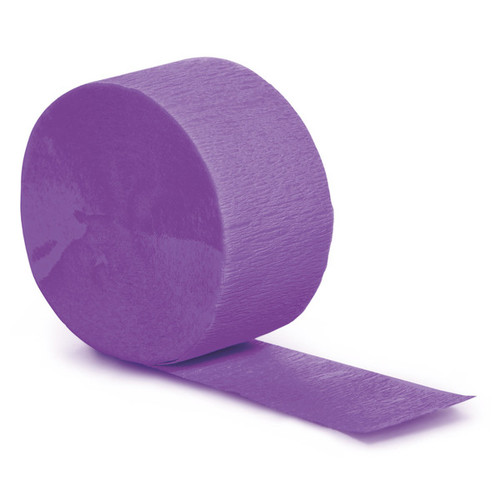 Club Pack of 12 Purple Contemporary Crepe Party Streamer Roll 81' - IMAGE 1