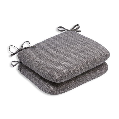 "Set of 2 Brown and Gray Chestnut Harbor Outdoor Reversible Patio Seat Cushion 3"" - IMAGE 1"