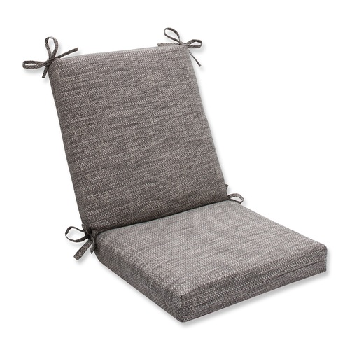 "36.5"" Brown and Gray Chestnut Harbor Outdoor Patio Chair Cushion with Ties - IMAGE 1"