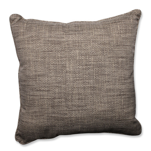 """25"""" Taupe and Gray Chestnut Harbor Decorative Outdoor Corded Throw Pillow - IMAGE 1"""