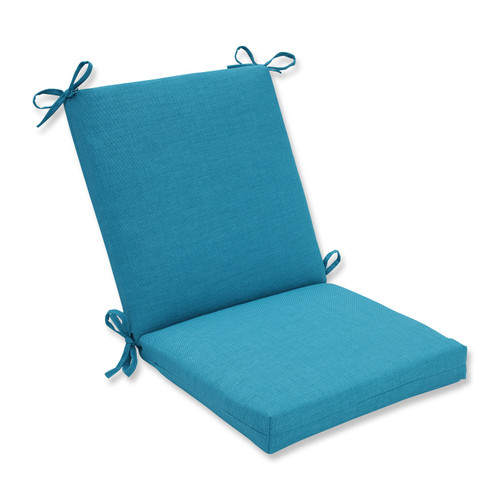 """36.5"""" Caribbean Summer Blue Outdoor Patio Chair Cushion with Ties - IMAGE 1"""