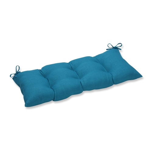 "44"" Caribbean Blue Tufted Outdoor Patio Swing/Bench Cushion - IMAGE 1"