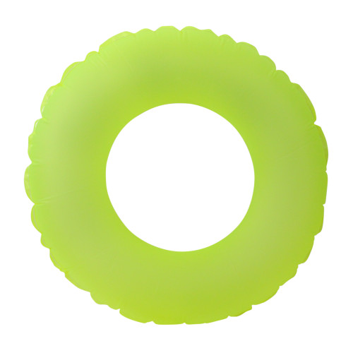 """30"""" Inflatable Neon Yellow Round Swimming Pool Inner Tube Ring Float - IMAGE 1"""