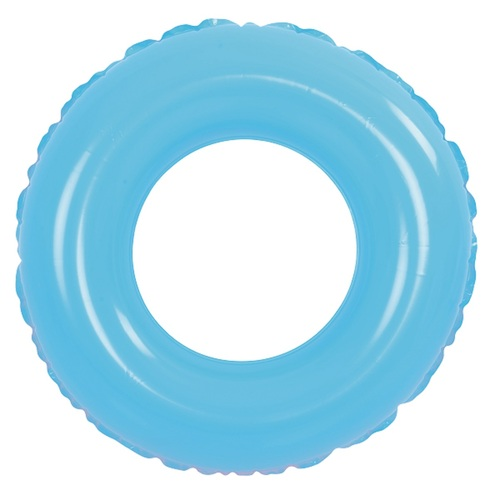 """35"""" Inflatable Blue Round Swimming Pool Inner Tube Ring Float - IMAGE 1"""