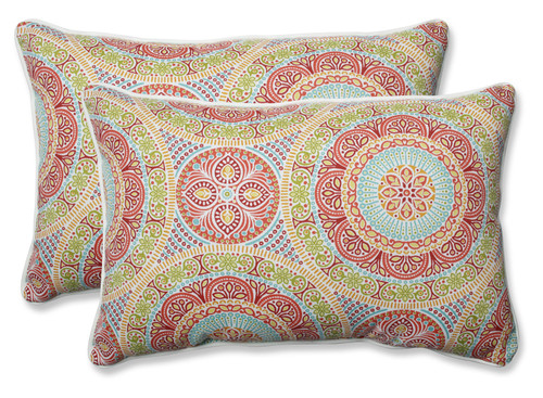 """Set of 2 24.5"""" Delancey Jubilee Over-Sized Rectangular Throw Pillow - IMAGE 1"""