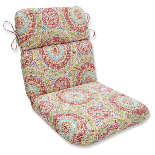 "40.5"" Red and Blue Outdoor Patio Chair Cushion - IMAGE 1"