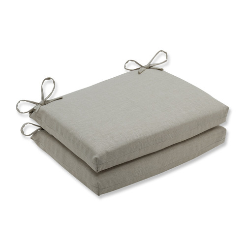 """Set of 2 Sandy Beach Charm Outdoor Patio Chair Seat Cushions with Ties 18.5"""" - IMAGE 1"""