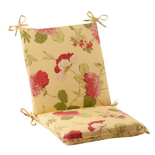 "36.5"" Solarium Bashful Blossom Outdoor Patio Furniture Square Chair Seat Cushion - IMAGE 1"