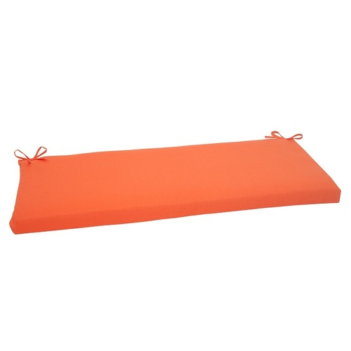"45"" Orange Outdoor Patio Rectangular Bench Cushion - IMAGE 1"