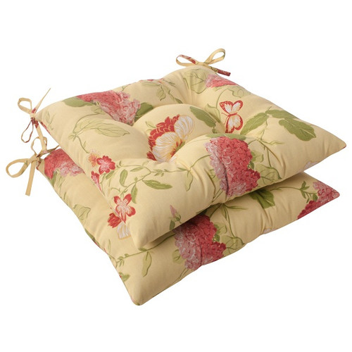 Set of 2 Solarium Bashful Blossom Outdoor Patio Furniture Tufted Chair Cushions - IMAGE 1