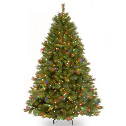 7.5' Winchester Pine Christmas Tree - Multi-Color Lights - IMAGE 1