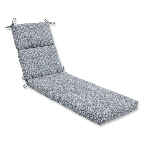 """72.5"""" Gray and Pearly White Chaise Lounge Cushion - IMAGE 1"""