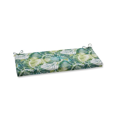 """45"""" Green and Blue Rectangular Outdoor Patio Bench Cushions with Ties"""" - IMAGE 1"""
