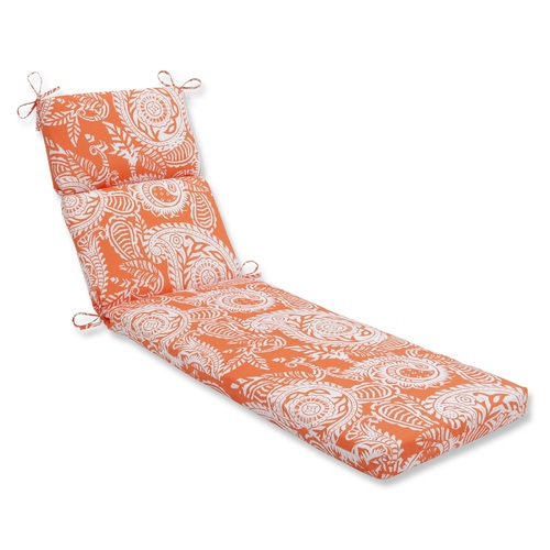 "72.5"" Summer Flower Outdoor Patio Chaise Lounge Cushion - IMAGE 1"