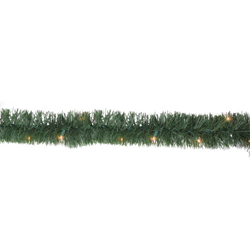 """18' x 3.5"""" Pre-Lit Green Pine Artificial Christmas Garland - Clear Lights - IMAGE 1"""