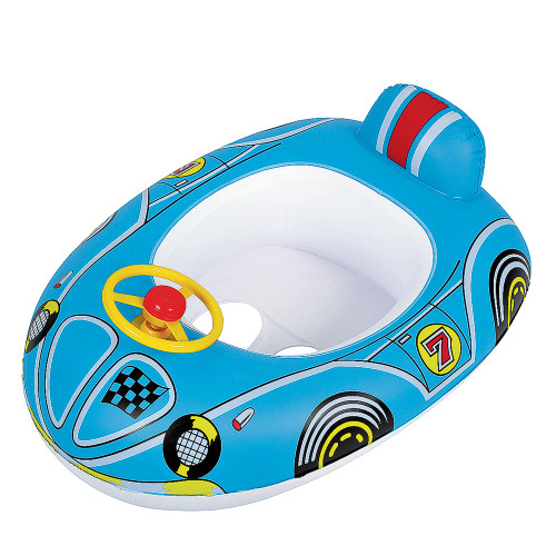 """27"""" Inflatable Blue Race Car Children's Pool Boat Float - IMAGE 1"""