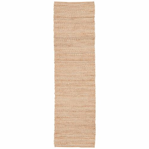 2.5' x 9' Sandy Tan and White Naturals Canterbury Hand Woven Area Throw Rug Runner - IMAGE 1