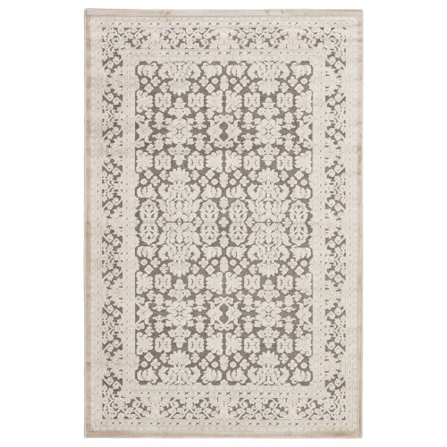 5' x 7.5' Gray and Ivory Transitional Regal Rectangular Area Throw Rug - IMAGE 1