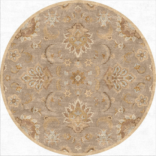 8' Toffee Brown Traditional Hand Tufted Wool Area Throw Rug - IMAGE 1