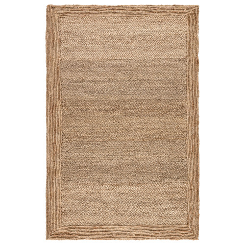 2' x 3' Ivory White Hand Woven Aboo Naturals Jute Area Throw Rug - IMAGE 1