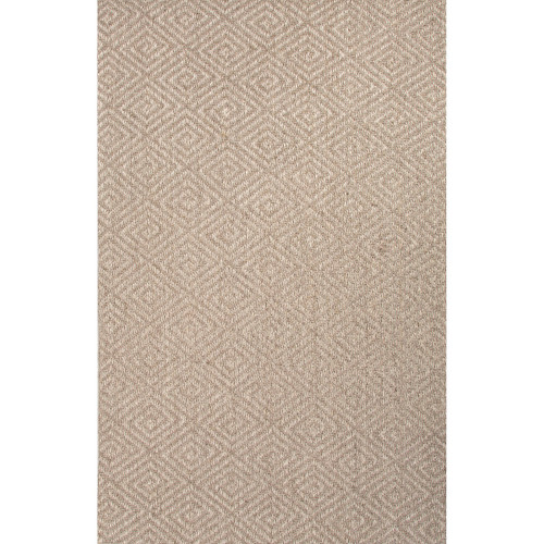 2' x 3' Dove White and Tan Hand Woven Tampa Naturals Area Throw Rug - IMAGE 1