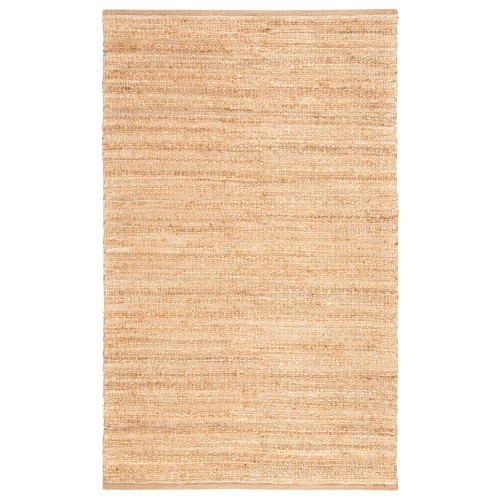8' x 10' Sandy Tan and White Naturals Canterbury Hand Woven Area Throw Rug - IMAGE 1