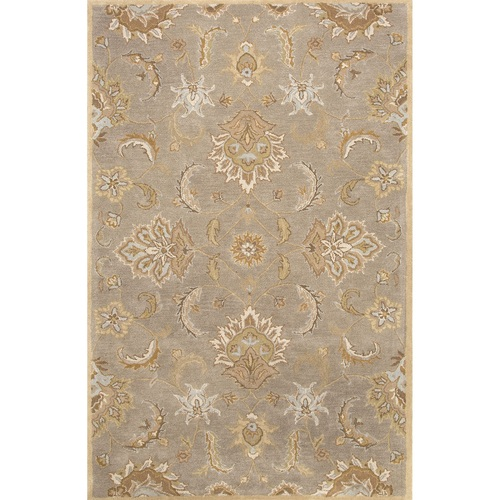 8' x 10' Toffee Brown Traditional Hand Tufted Wool Area Throw Rug - IMAGE 1