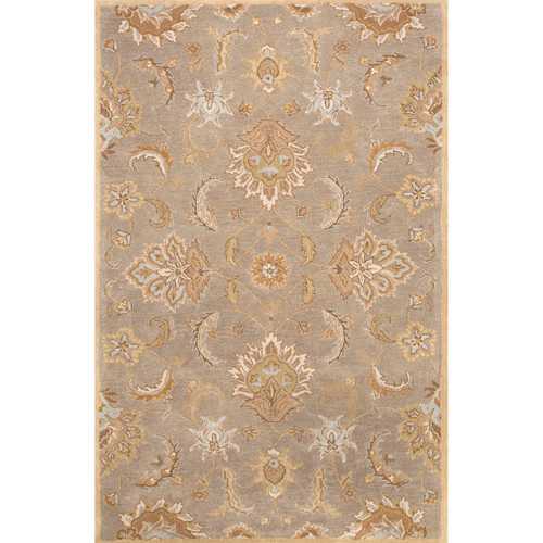 9' x 12' Toffee Brown Traditional Hand Tufted Wool Area Throw Rug - IMAGE 1