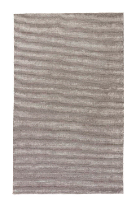 2' x 3' Gray and White Transitional Handmade Rectangular Wool Area Throw Rug - IMAGE 1