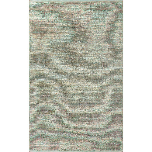 2' x 3' Olive Green and Sky Blue Naturals Havana Hand Woven Area Throw Rug - IMAGE 1