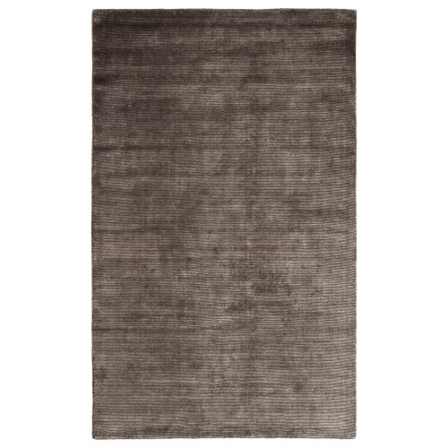 3.5' x 5.5' Gray and White Contemporary Hand Tufted Rectangular Wool Area Throw Rug - IMAGE 1
