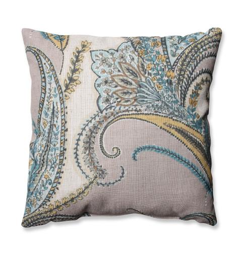 "16.5"" Naturally Serene Paisley Decorative Throw Pillow - IMAGE 1"
