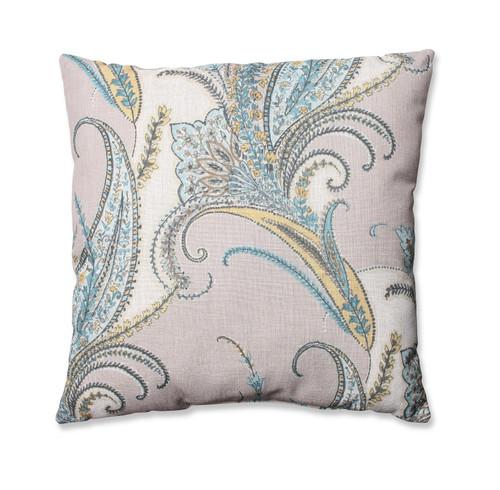 "24.5"" Square Naturally Serene Paisley Decorative Floor Pillow - IMAGE 1"
