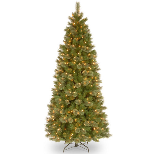 7.5' Pre-Lit Tacoma Pine Artificial Christmas Tree - Clear Lights - IMAGE 1