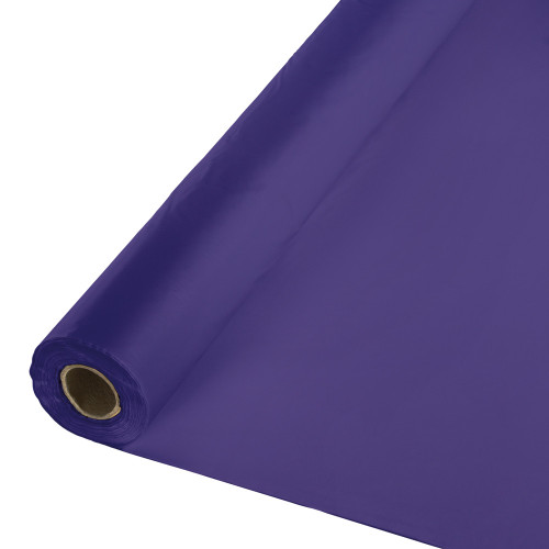 Pack of 6 Purple Disposable Banquet Party Table Cover Rolls 100' - IMAGE 1