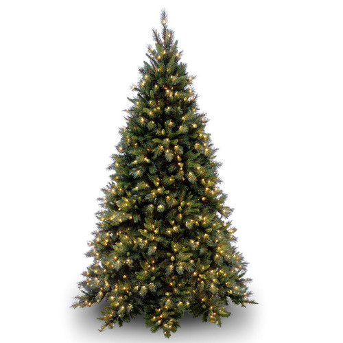 9 ft. Tiffany Fir Medium Tree with Clear Lights - IMAGE 1